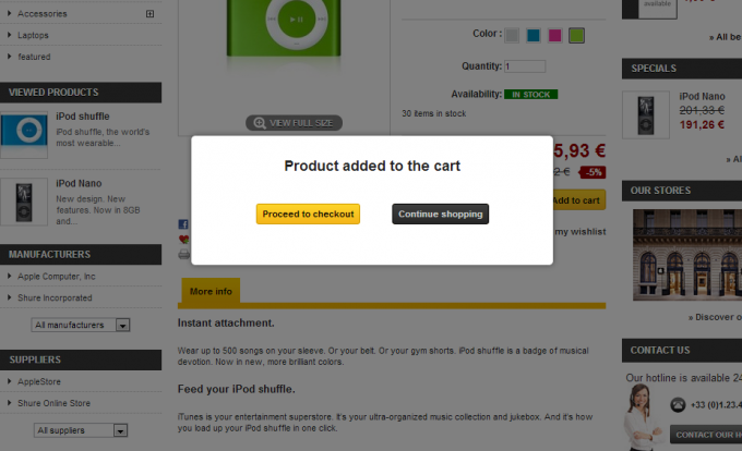 """Our new """"add to cart"""" animation for Prestashop"""