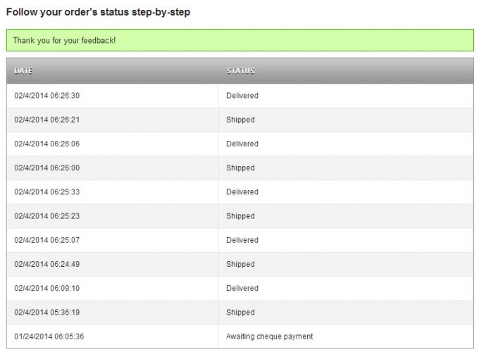 Prestashop - I received my order confirmed