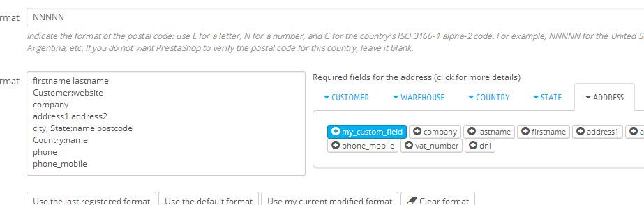 How to add new fields to the customer address in Prestashop