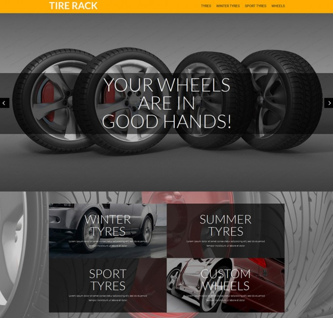Free Prestashop Theme Wheels And Tires