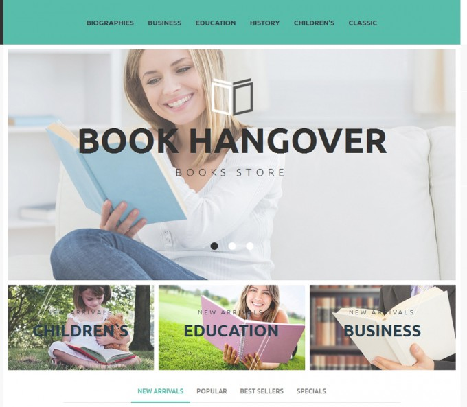 Free PrestaShop Theme for Book Website