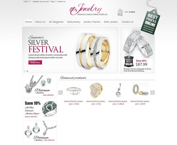 Free PrestaShop Theme for Jewelry Website