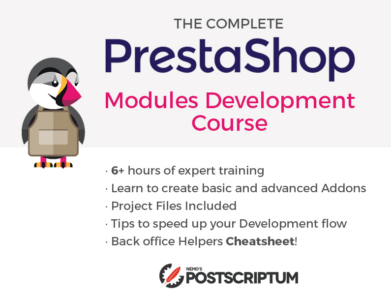 PrestaShop Modules Development Course