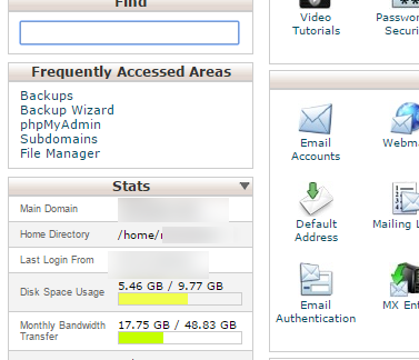 Find your account name in cPanel