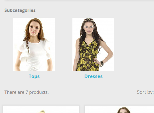 Adding subcategories with Images to Prestashop 1.7 - End result