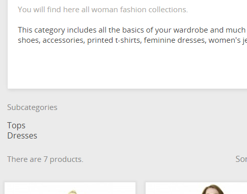 Adding subcategories to prestashop 1.7